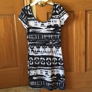 Swell black & white pattern dress